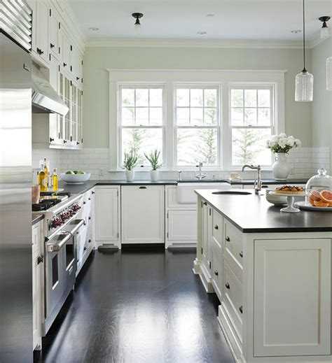 white kitchen cabinet paint colors transitional kitchen benjamin morning dew