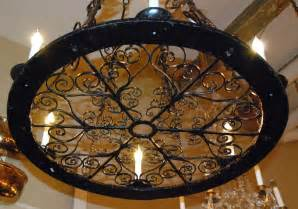 Bronze And Crystal Chandelier Antique Wrought Iron Chandelier At 1stdibs