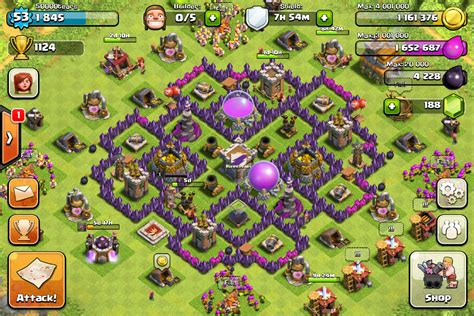 coc strong layout town hall 7 farming bases clash of clans