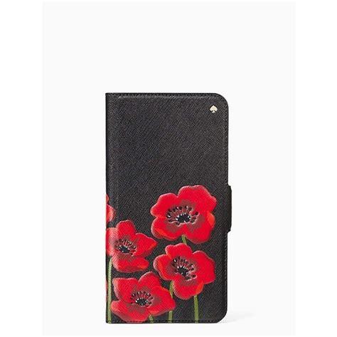 shop kate spade  york large poppies folio iphone