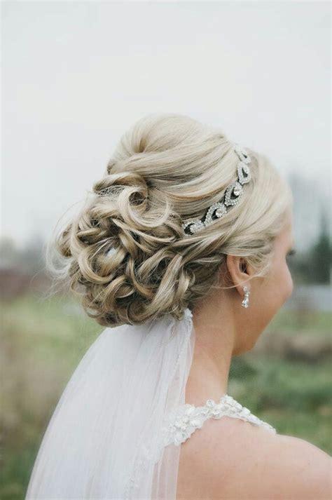 Wedding Hairstyles Veil Underneath by Wedding Updo With Headband And Veil Underneath Wedding