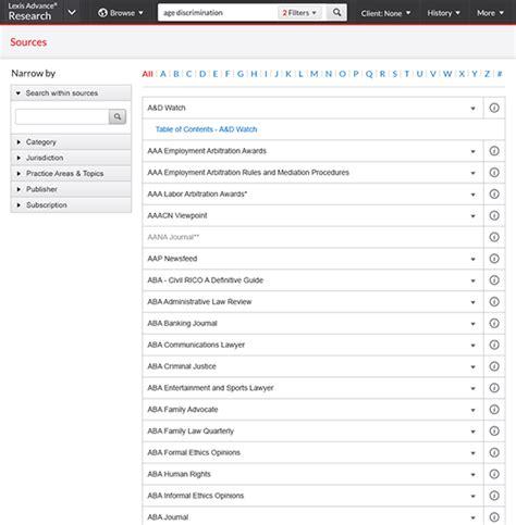 Lexis Advance Records Unmatched Lexis Advance Content 60 000 Sources Lexisnexis