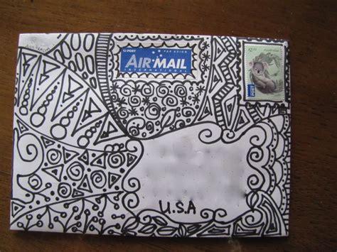 doodle 4 mailing address zentangle envelope envelope and happy mail