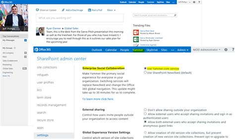 Office Yammer 企业可将 Yammer 设置为 Office 365 默认社交网络 推酷