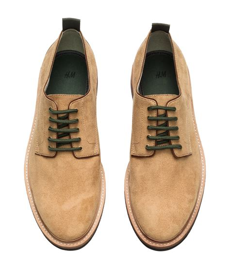 hm shoes h m derby shoes in for lyst