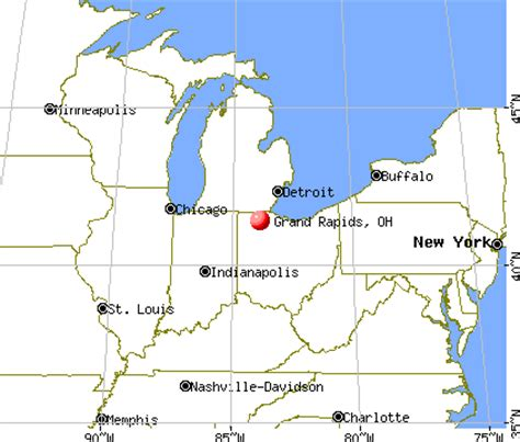 map usa grand rapids grand rapids ohio oh 43522 profile population maps