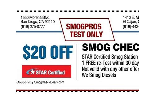 smog tips coupons