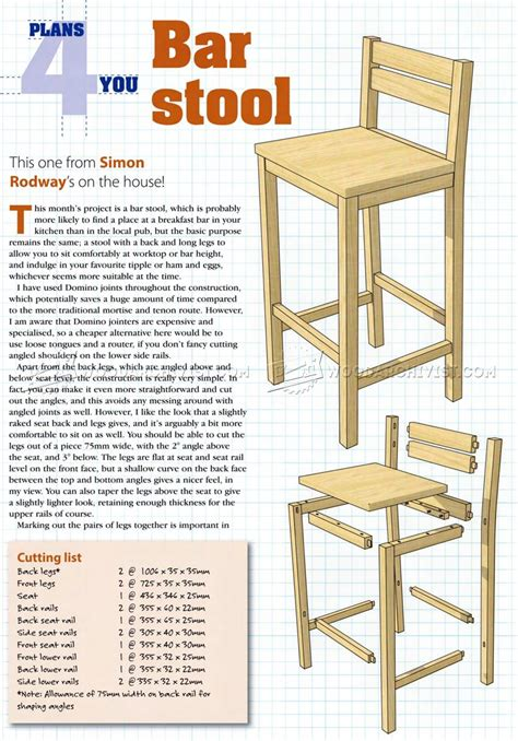 Plans For Bar Stools With Backs by Diy Bar Stools Woodarchivist