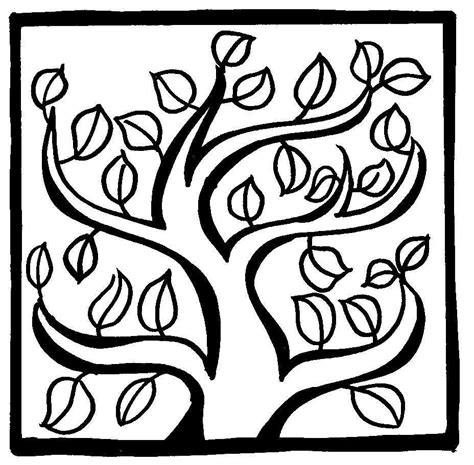 Coloring Page Vine And Branches by Vine Coloring Pages