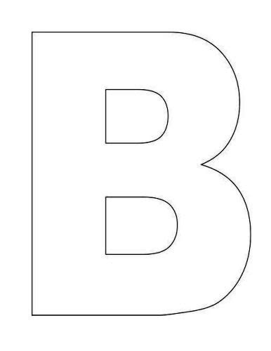 letter b template best photos of large letter templates printable letter b