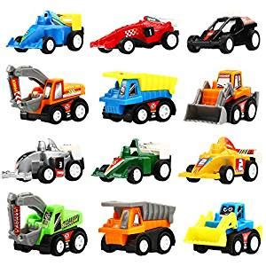 Car Minny Set 5in1 pull back vehicles 12 pack assorted construction vehicles and raced car yeonhatoys vehicles