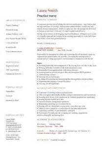Curriculum Vitae For Nurses by Nursing Cv Template Nurse Resume Examples Sample