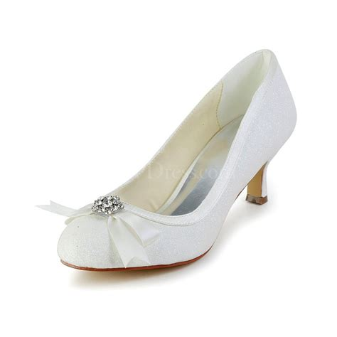 comfort kitten heels cream graduation wedding shoes sequined cloth sparkling
