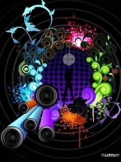 disco abstract mobile wallpaper mobile toones