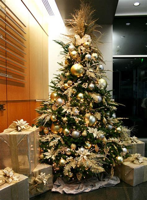 gold decorated christmas trees www imgkid com the