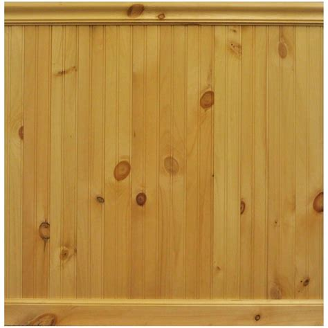 interior paneling home depot house of fara 8 lin ft north america knotty pine tongue