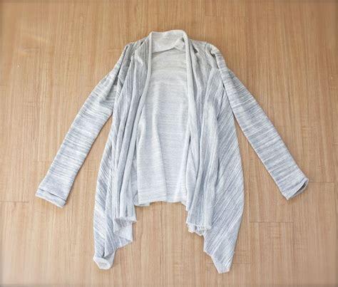 drape cardigan pattern easy diy asymmetrical draped cardigan sewing pinterest