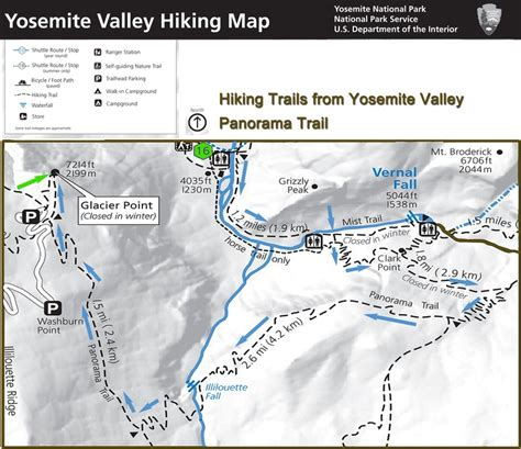 yosemite valley map 17 best images about yosemite valley hiking maps on parks age and the