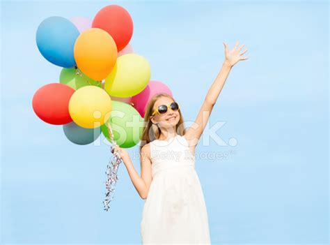 Multi Family Home Design by Happy With Colorful Balloons Stock Photos