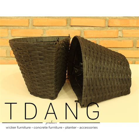 Plastic Half Wall Planters by Tdang Furniture Half Resin Wicker Wall Basket