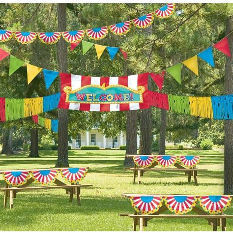 circus theme decor outdoor carnival ideas birthday express