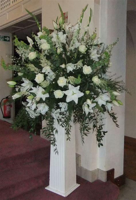 Church Wedding Flowers Pedestal 17 best images about wedding flowers on delphiniums pedestal and pew ends
