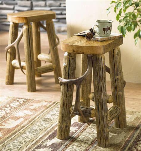 log home bar stools antler log bar stool home decor in western style