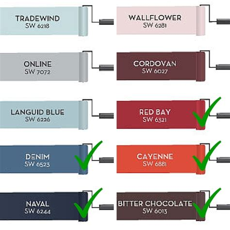 2015 pottery barn colors some some not so