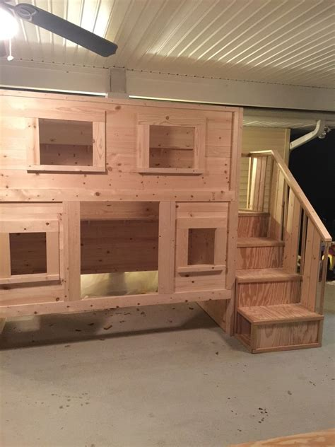 ana white cabin bunk bed  dima diy projects