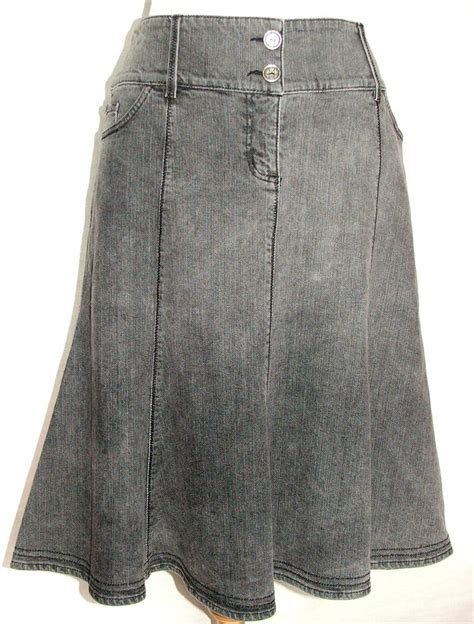 ex per una marks spencer grey stretch denim flared