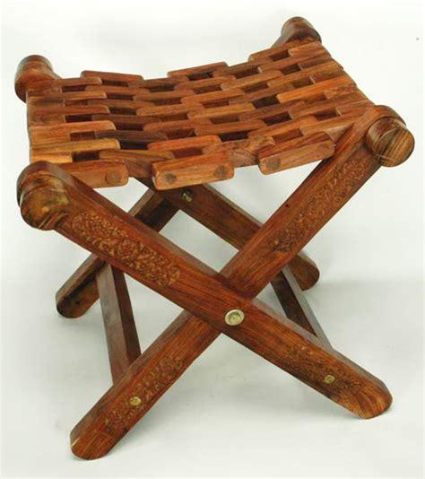 buy wooden folding stool from usha handicrafts saharanpur