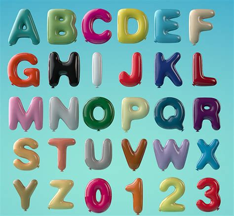 Alphabet Balloon 18 awesomely designed alphabets that will you