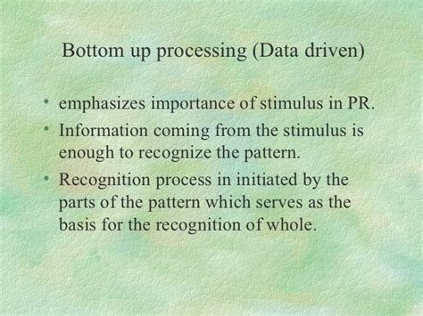 psychological processes in pattern recognition isbn 1 perceptual process