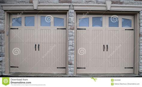 Garage Doors New New Garage Doors Royalty Free Stock Photos Image 5043588
