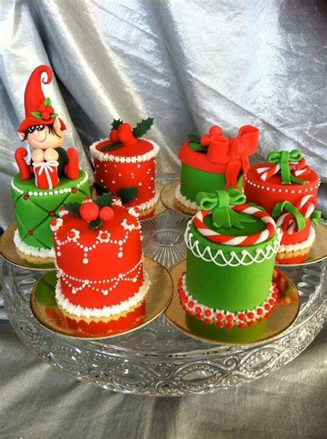 christmas cakes mini cakes and minis on pinterest