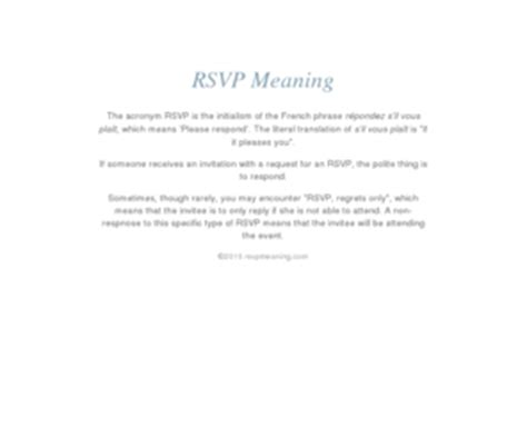 meaning of rsvp
