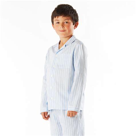 boy s boy s striped pyjamas by pj pan notonthehighstreet com