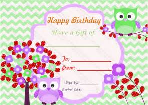 Birthday Gift Certificate Template by Birthday Bumps Gift Certificate Template