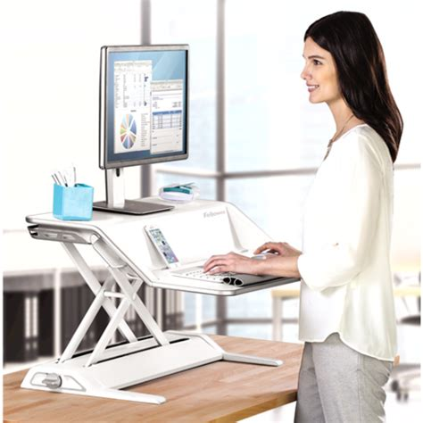 fellowes lotus sit stand adjustable workstation 5 12 h x
