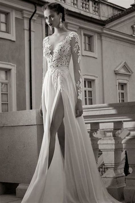 wedding dresses with thigh high slits 17 wedding dresses with thigh high slits for a bridal
