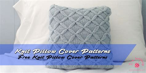 knit pillow cover knitting patterns  beginners