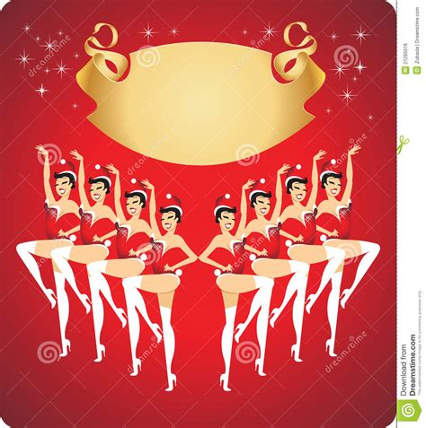 new year show new year cabaret show stock vector image of