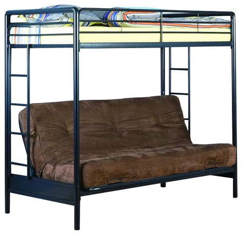 Black Futon Bunk Bed Dhp Futon Bunk Bed In Black Transitional Bunk Beds