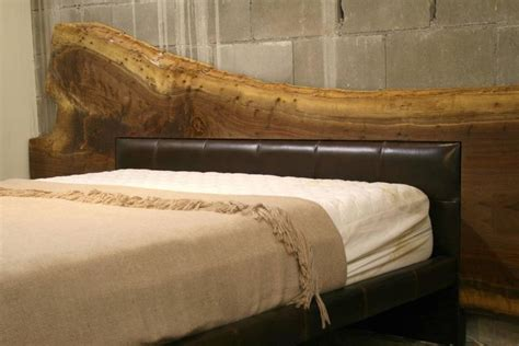 Live Edge Headboard by Live Edge American Black Walnut Bed Frame With Leather