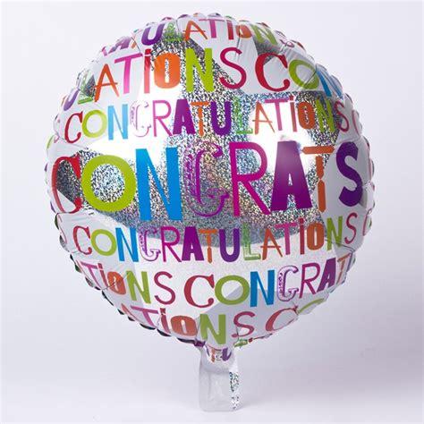 Wedding Congratulations Balloons by Holographic Silver Congratulations Foil Helium Balloon