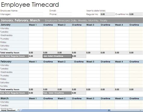 Timecard Spreadsheet by Printable Employee Timesheet