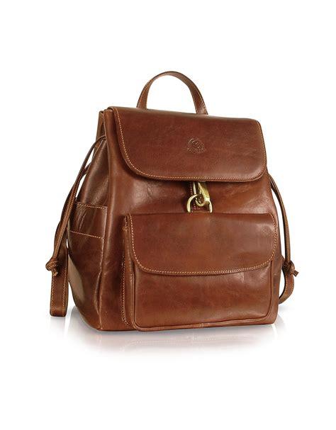 Handmade Backpack - chiarugi handmade brown genuine leather backpack in brown
