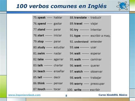 las 100 preguntas mas frecuentes en ingles 0 4 verbos en ingles uso del infinitivo y ejemplos comunes