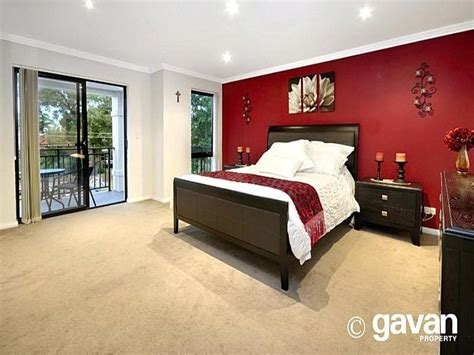 bedroom design red carpet modern bedroom design idea with carpet sliding doors