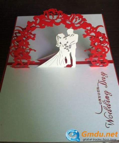 pop handmade card wedding invitation shenzhen